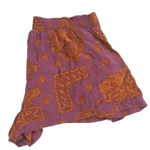 Free People purple copper cotton shorts XS